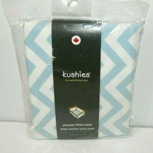 Kushies 100% Cotton Flannel Playpen Fitted Sheet